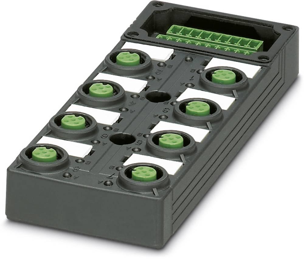 Sensor/aktorbox passiv M12-fordeler med kunststofgevind SACB-8/ 8-L-C GG SCO P 1452903 Phoenix Contact 1 stk