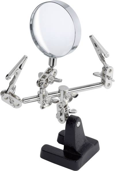 Toolcraft ZD-10D Helping Hand with Magnifying Glass