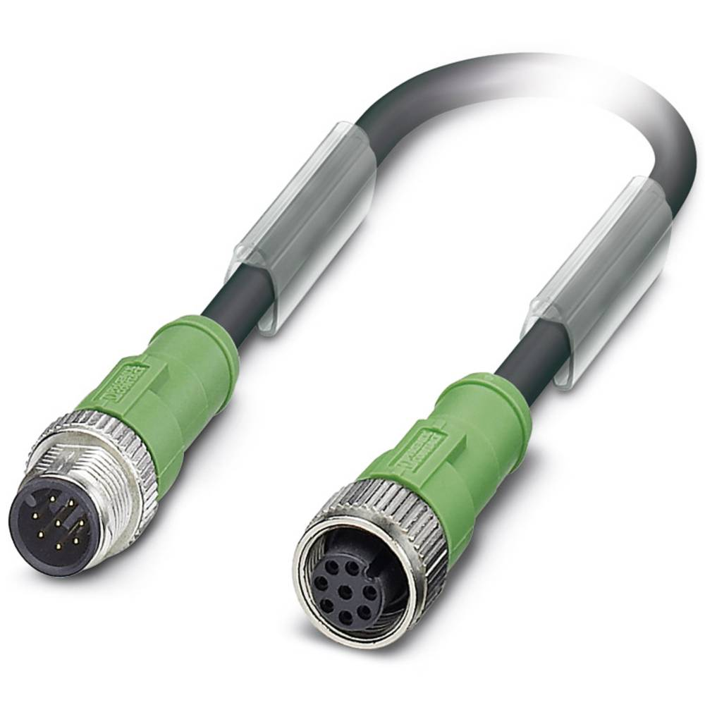 Sensor-, aktuator-stik, Phoenix Contact SAC-8P-M12MS/ 3,0-PUR/M12FS 1 stk