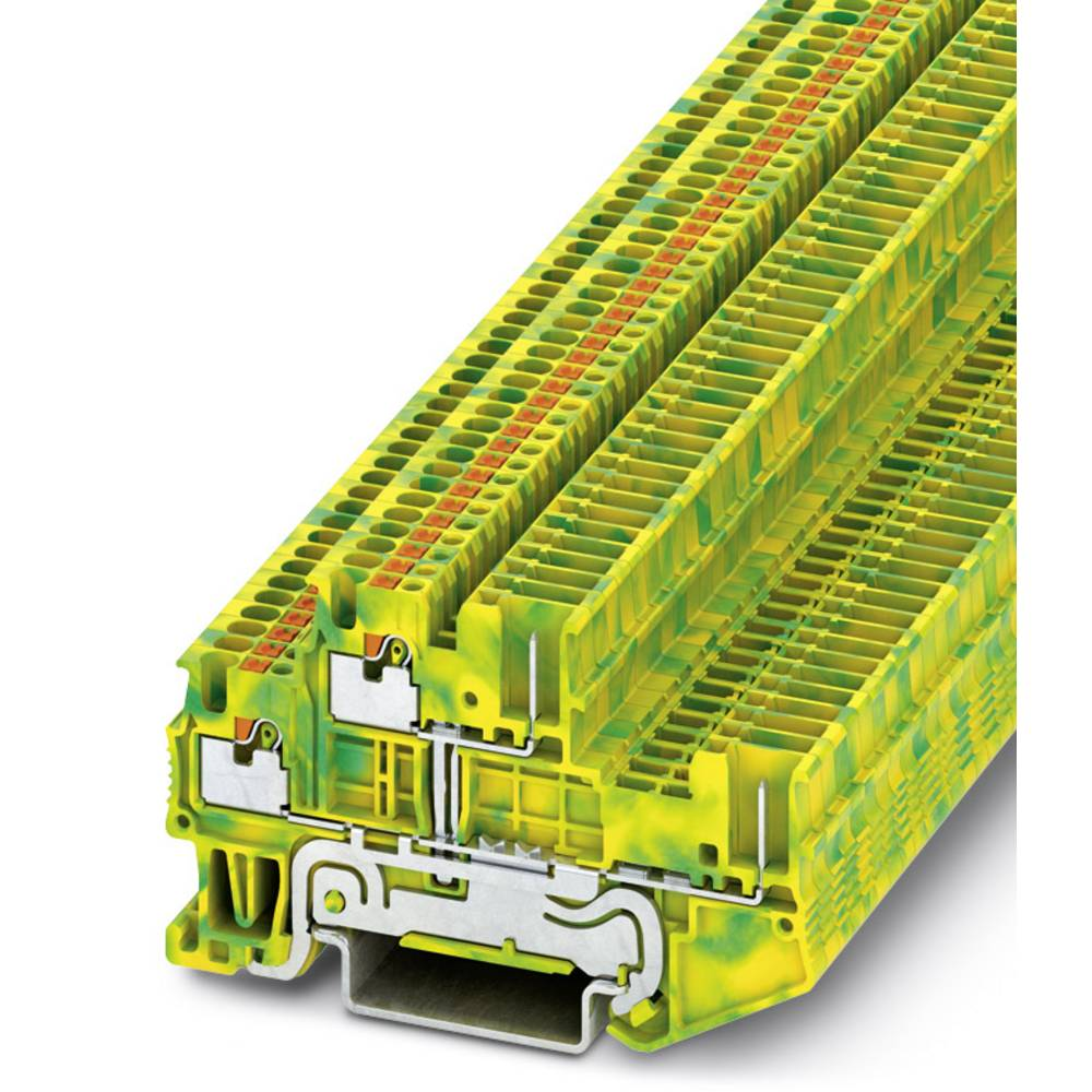 PTTB 1.5 / S 2P-PE / - beskyttelsesleder dobbeltdækker terminal Phoenix Contact PTTB 1,5/S/2P-PE Grøn-gul 50 stk