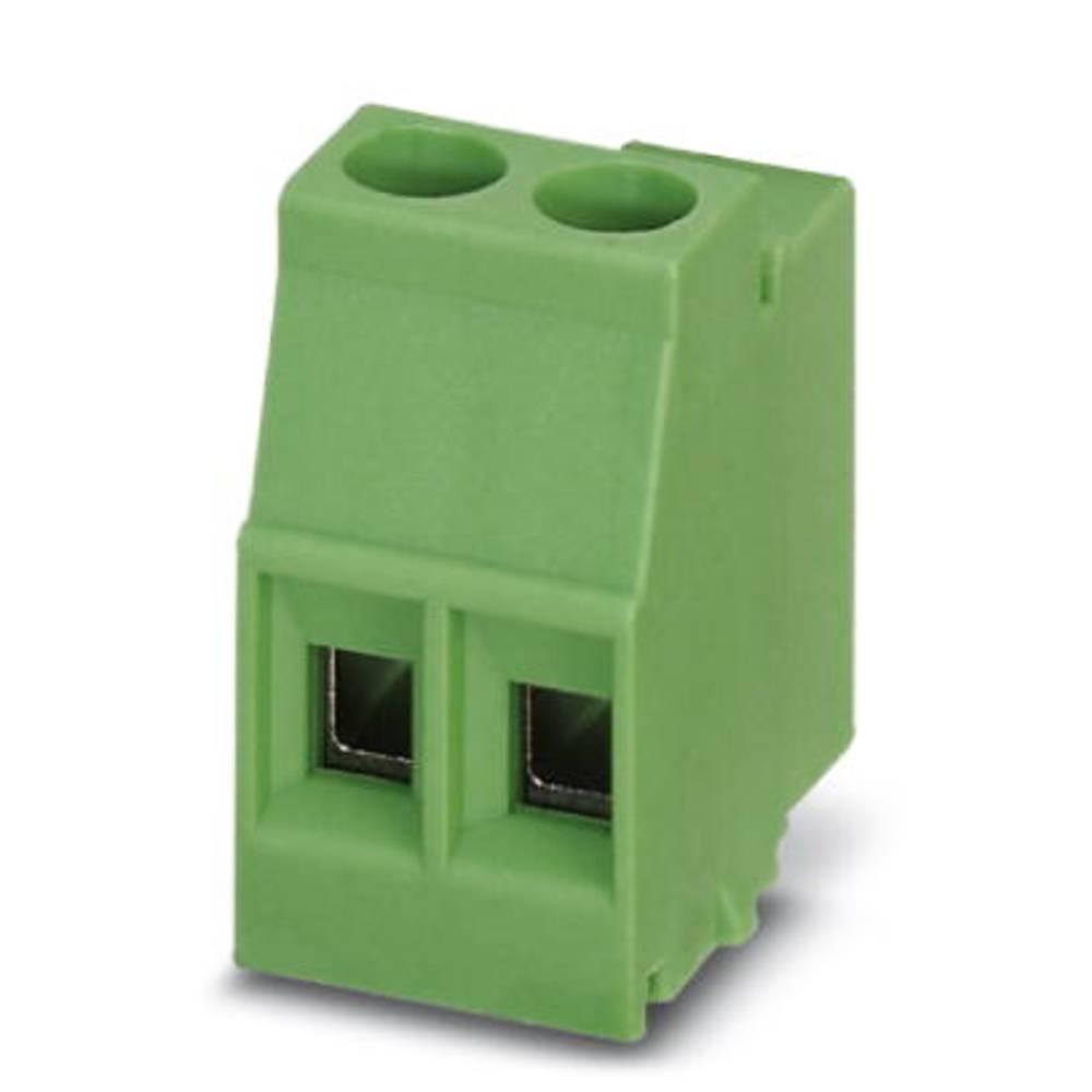 Skrueklemmeblok Phoenix Contact MKDSO 2,5/ 2-L 2.50 mm² Poltal 2 Grøn 250 stk