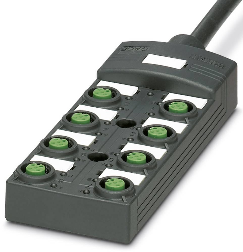 Sensor/aktorbox passiv M12-fordeler med kunststofgevind SACB-8/16-10,0PUR SCO P 1452550 Phoenix Contact 1 stk