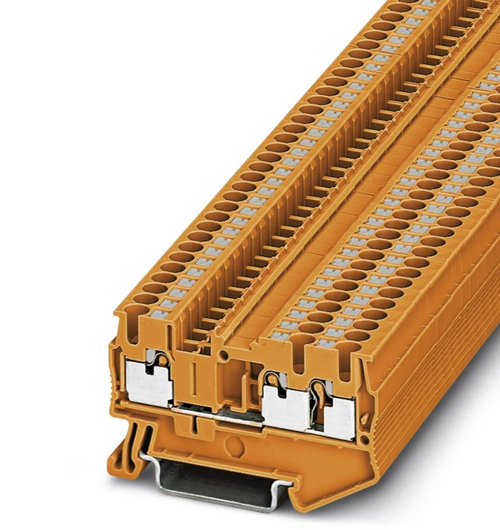 PT 2,5-TWIN OG - gennem terminal Phoenix Contact PT 2,5-TWIN OG Orange 50 stk