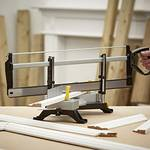 Mitre charging metal with saw