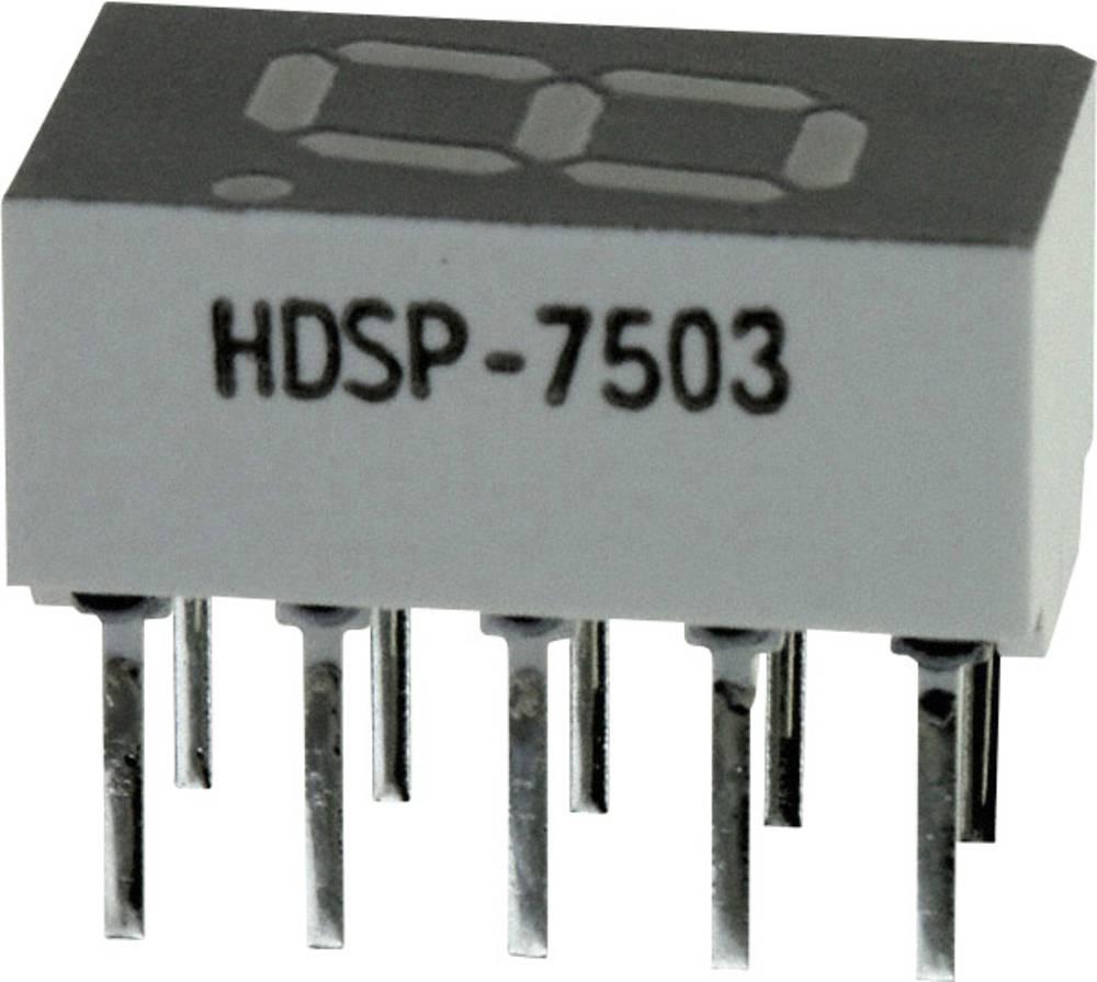 7-segmentsvisning Broadcom 7.62 mm 2 V Rød