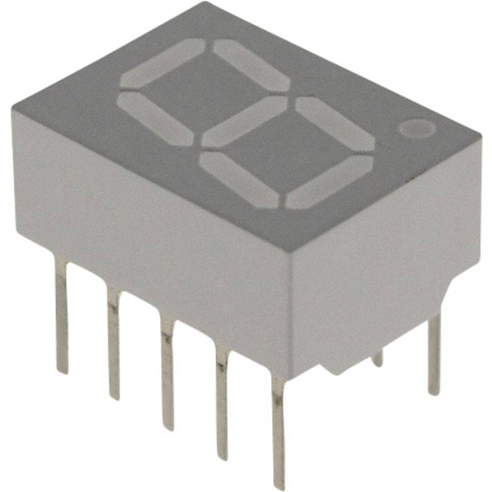 7-segmentsvisning Broadcom 10.16 mm 1.7 V Rød