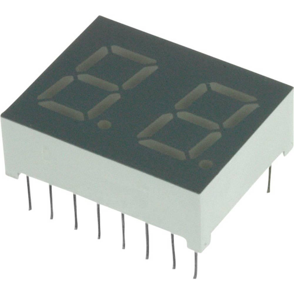 7-segmentsvisning LUMEX 10.2 mm 2 V Rød