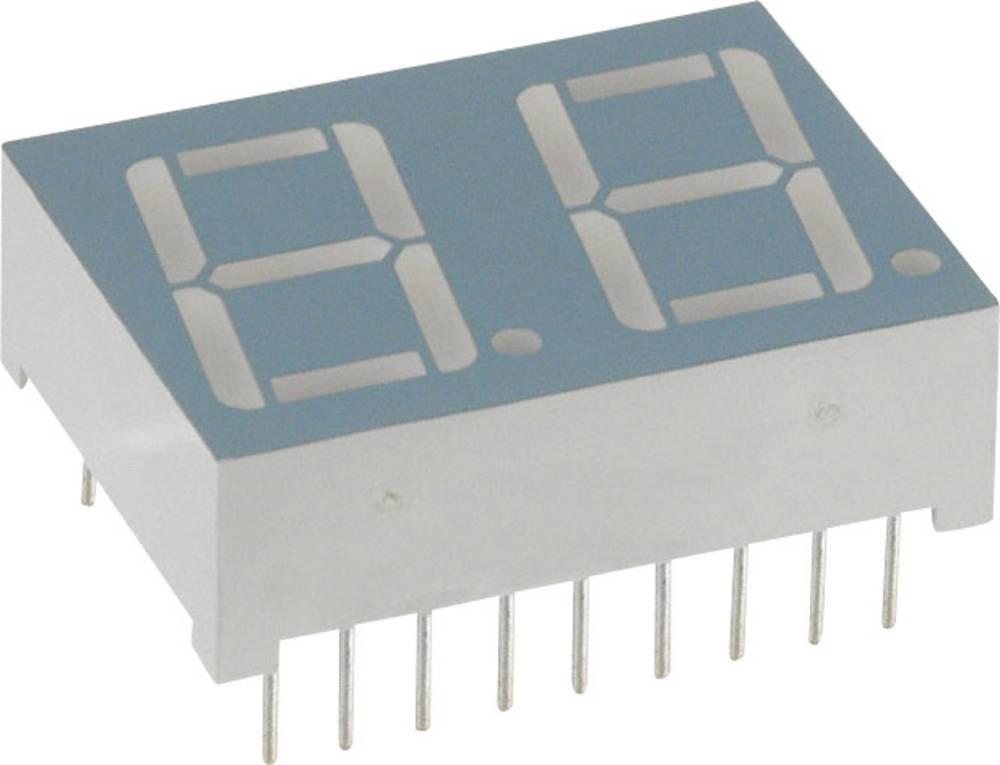 7-segmentsvisning LUMEX 14.2 mm 2.1 V Gul