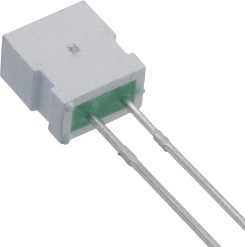 Ožičena LED dioda, zelena, pravokotna 6.22 x 3.17 mm 6 mcd 100 ° 30 mA 2.2 V Everlight Opto MV54124A