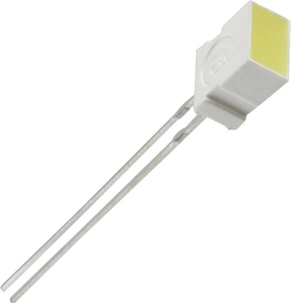 LED med ledninger Everlight Opto 6.22 x 3.17 mm 6 mcd 100 ° 20 mA 2 V Gul