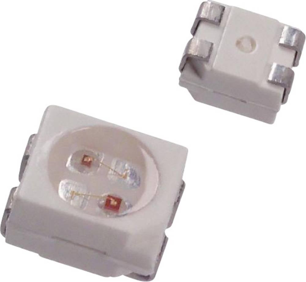 SMD LED Dialight 597-7721-207F PLCC4 16 mcd 120 ° Grøn, Gul