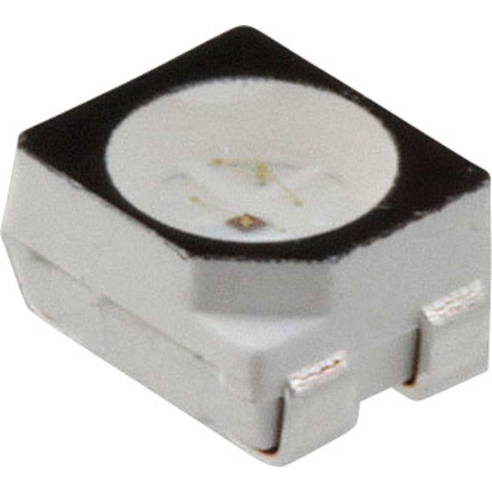 SMD LED Dialight 597-7752 -007F PLCC4 850 mcd, 350 mcd 120 ° Grøn, Rød
