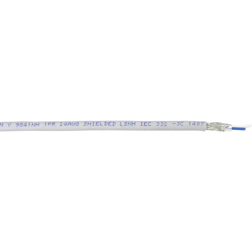 Bus vodič 1 x 2 x 0.2 mm sive boje Belden 9841 metarski