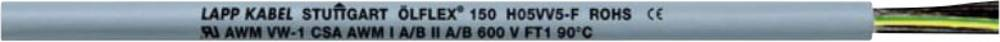 Krmilni kabel ÖLFLEX® 150 QUATTRO 7 G 0.75 mm sive barve LappKabel 0015107 meterski