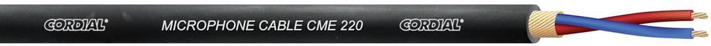 Cordial-Economy CME 220-Mikrofonski kabel, 2x0.20mm², crn, metarska roba