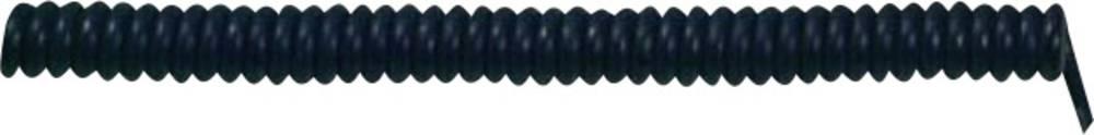 Spiralni kabel X05VVH8-F 1000 mm / 3000 mm 5 x 0.75 mm črne barve LappKabel 73222343 1 kos