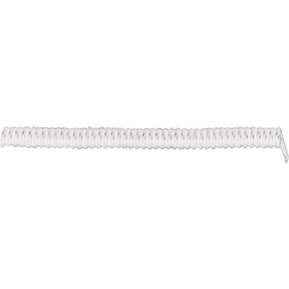 Spiralni kabel X05VVH8-F 500 mm / 1500 mm 3 x 0.75 mm bijele boje LappKabel 73222363 1 kom.