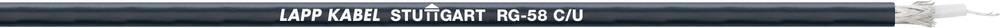 Koaksialkabel RG58 C/U LappKabel 2170000 50 Ohm Metervare Sort