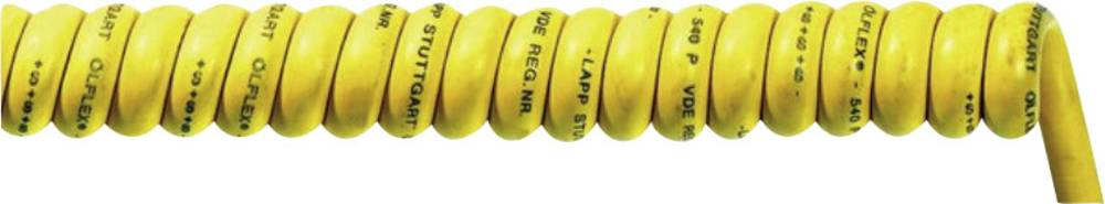 Spiralni kabel ÖLFLEX® SPIRAL 540 P 1000 mm / 3500 mm 4 x 0.75 mm žute boje LappKabel 71220117 1 kom.