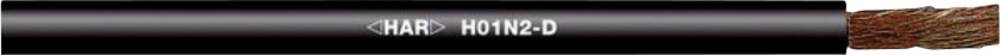 Varilni vodnik H01N2-D 1 x 25 mm črne barve LappKabel 2210701 25 m