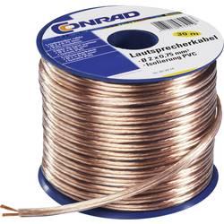 Kabel za zvočnik Conrad, zapakiran, 2 x 0,75 mm2, 30 m SH1998C180