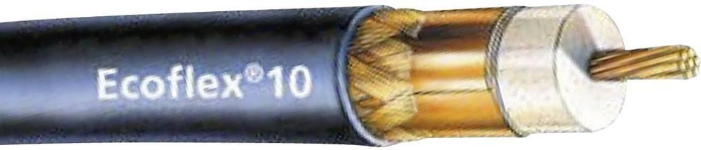 Koaxialkabel 10.20 mm Ecoflex® 10 50 Ohm 90 dB Svart SSB Metervara