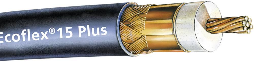 Koaksialni kabel zunanji premer: 14.6 mm Ecoflex®15 Plus 50 90 dB črne barve SSB 6043 meterski