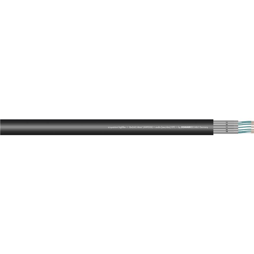 Večžilni odrski kabel Sommer Cable SC-QUANTUM HIGHFLEX QMC,8x 2 x 0,14 mm2, črne barve 100-0451-08