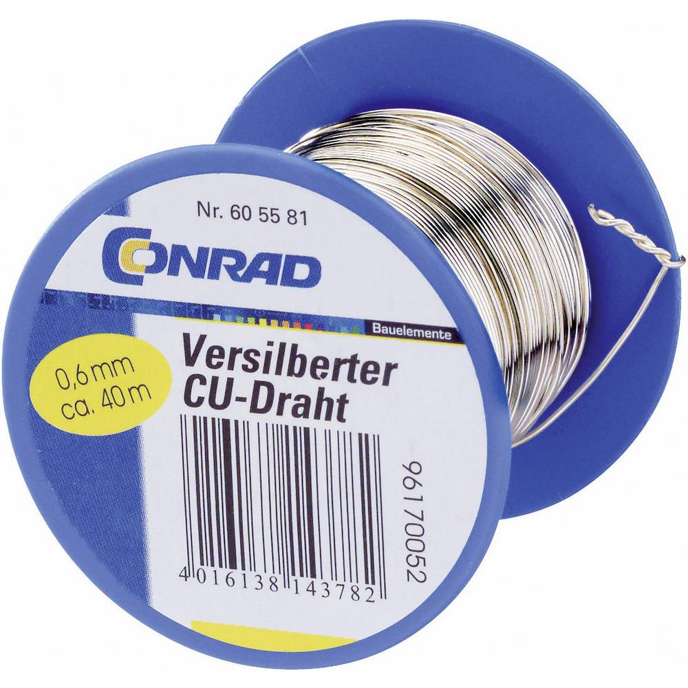 Silver Plated Copper Wire Suppliers | Conrad Silver Plated Copper Wire 1mm 14 Mm Reel From Conrad