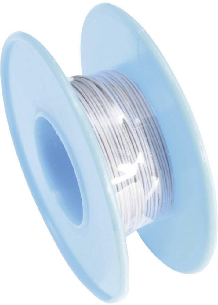 Vodnik za ovijanje Wire Wrap 1 x 0.03 mm sive barve Conrad Components 93014c363 15 m