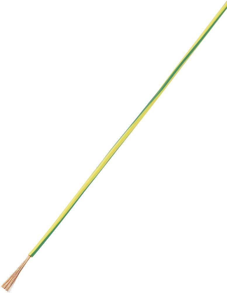 Finožični vodnik LiFY 1 x 0.50 mm zelene barve -rumene barve Conrad Components 93030c87 10 m