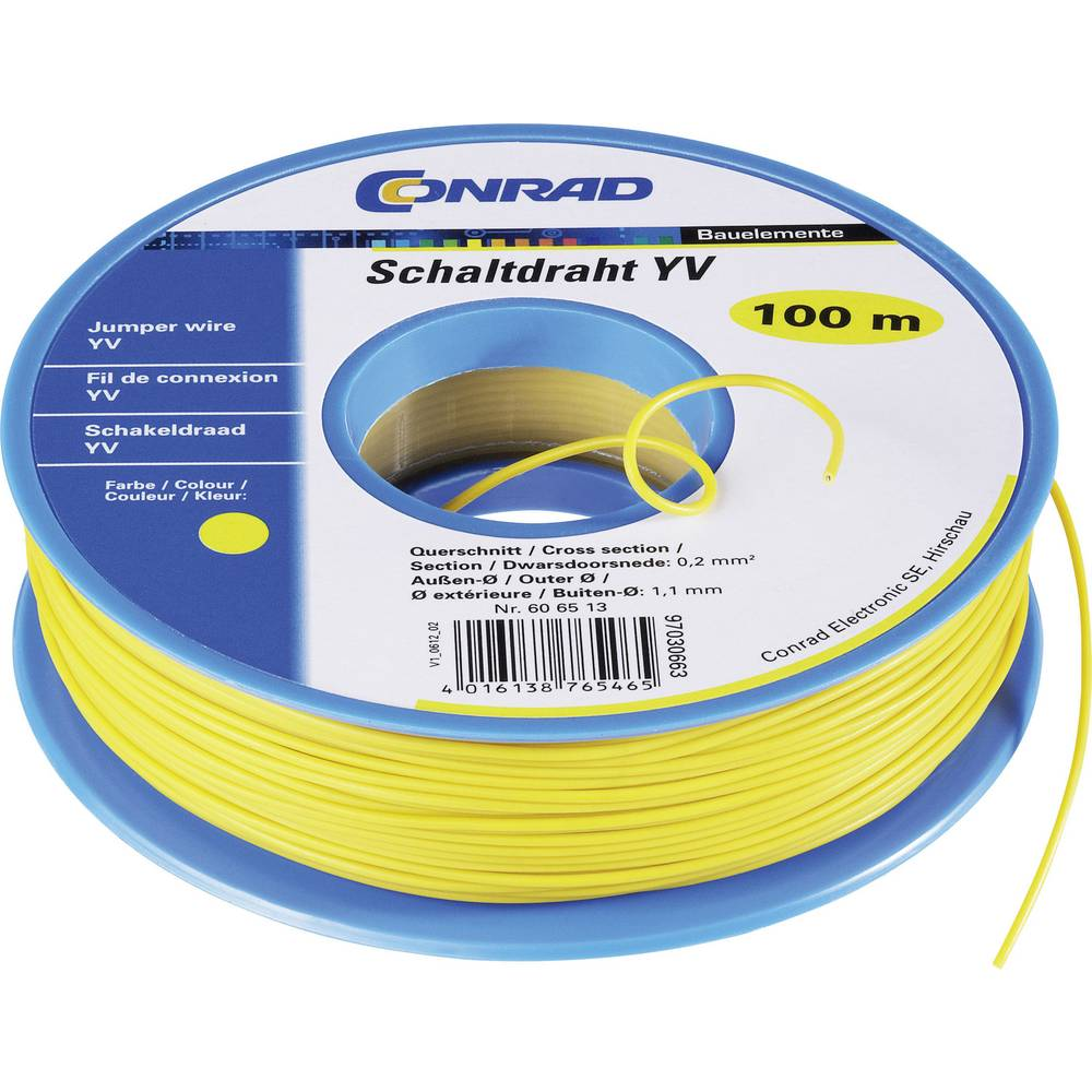Vodnik Yv 1 x 0.20 mm vijolične barve Conrad Components 93030c250 50 m