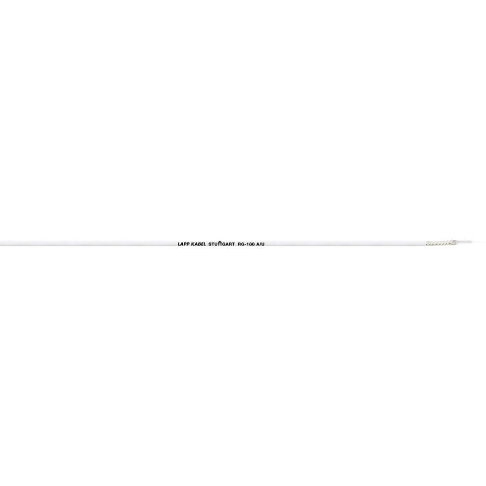 Koaksialni kabel zunanji premer: 2.7 mm RG188 A/U 50 črne barve LappKabel 2170003 1000 m