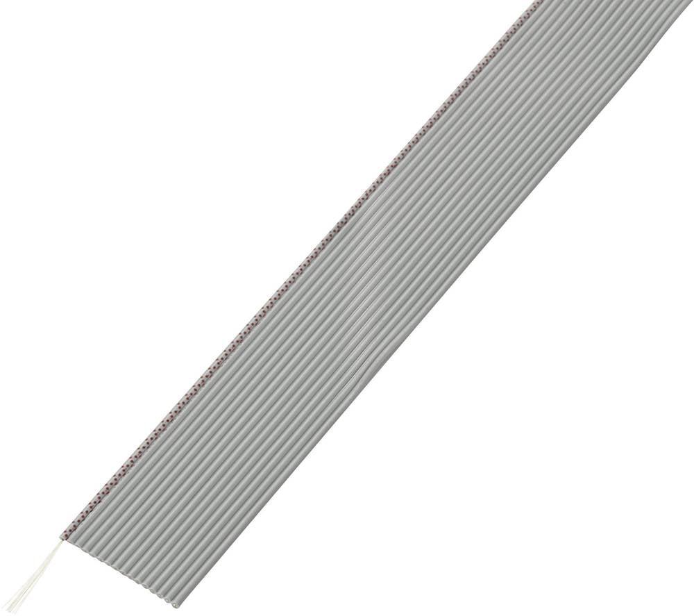 Pljosnati kabel dimenzije: 1.27 mm 16 x 0.035 mm sive boje Conrad Components SH1998C200 30.5 m
