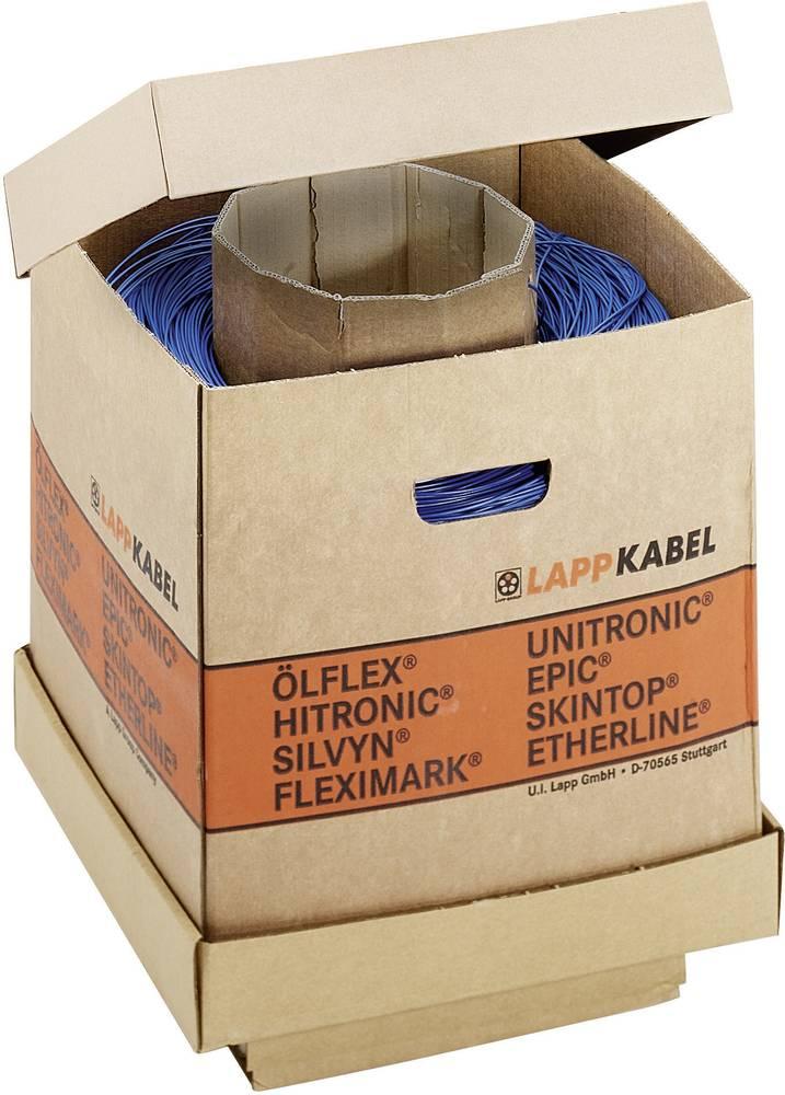 Finožični vodnik H05V-K 1 x 1 mm temno modre barve barve, bele barve LappKabel 4510923K 2000 m