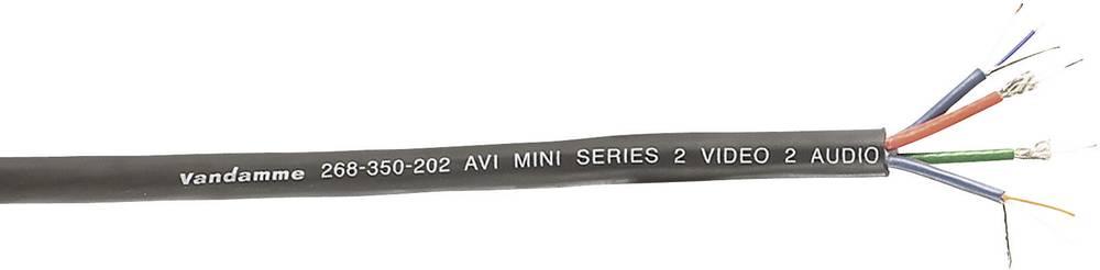 VanDamme-Večžilni kabel, audio/video, serija AVI, 0.08mmË>, crn, metarska roba 268-350-202