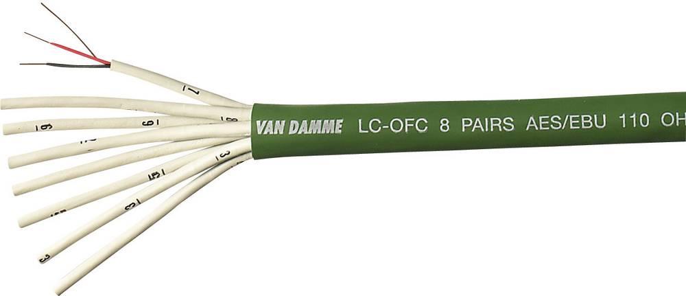 Digitalni kabel VanDamme GreenSeries Digi Grade AES/EBU, 0,14 mm2, zelen, metrsko blago 268-412-050