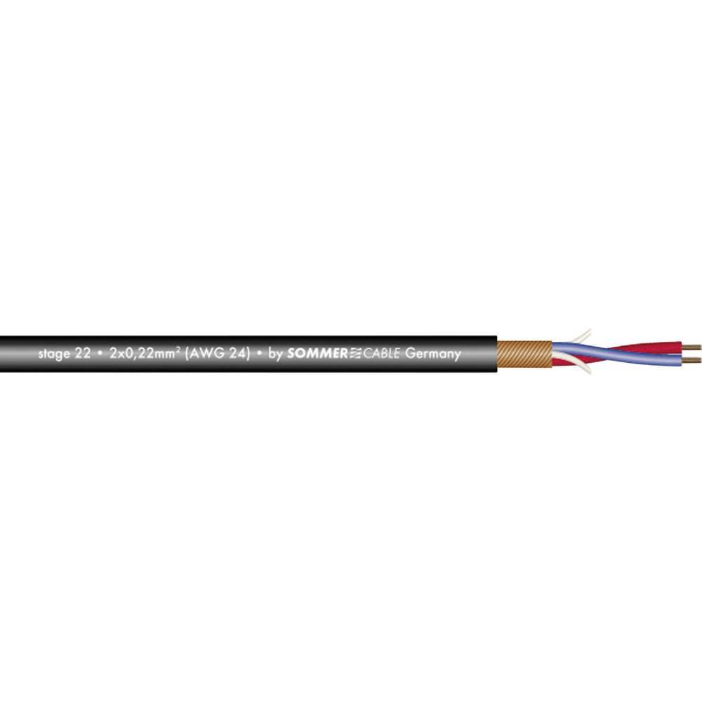 Sommer Cable-''STAGE 22 HIGHFLEX''-Mikrofonski kabel, 2x0.22mmË>, crn, metarska roba 200-0001