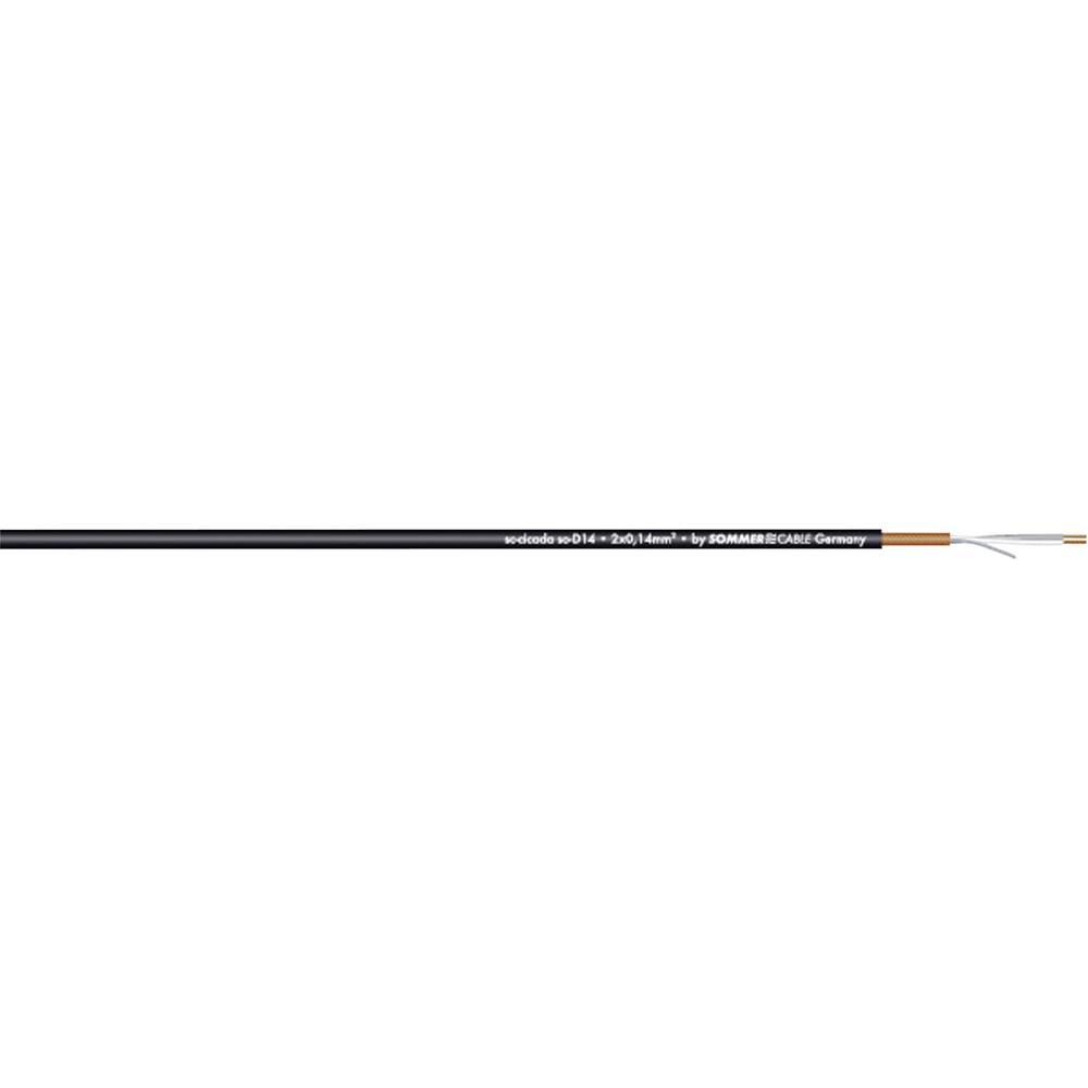 Patch in mikrofonski kabel Sommer Cable SC-CICADA SO-D14, 2x0,14 mm2, črn, metrsko blago 200-0451