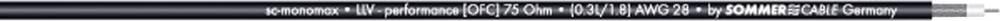 Video kabel Sommer Cable SC-MONOMAX, 1 x 0,08 mm2, črne barve, metrsko blago 600-0251-01