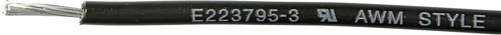 Finožični vodnik 1 x 0.90 mm črne barve MediKabel 121180 meterski