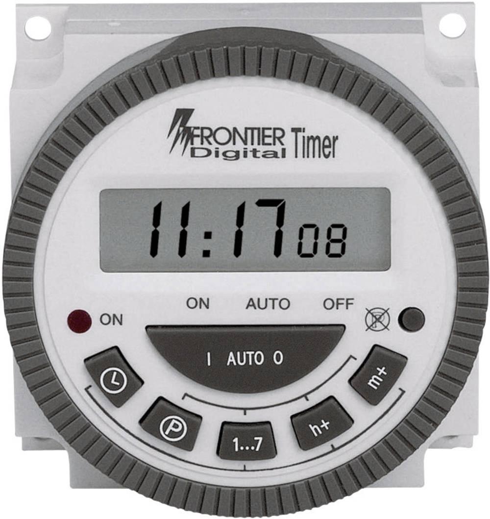 Stikalna ura za vodila, namestitev na prednjo ploščo, digitalna CE TM-619 230 V/AC 16 A/250 V