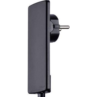 Image of EVOline 1510.0000.0100 CEE 7/16 safety plug Plastic + unplug aid 230 V Black IP20