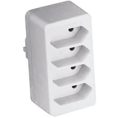 Image of GAO 0130 4x Socket splitter White