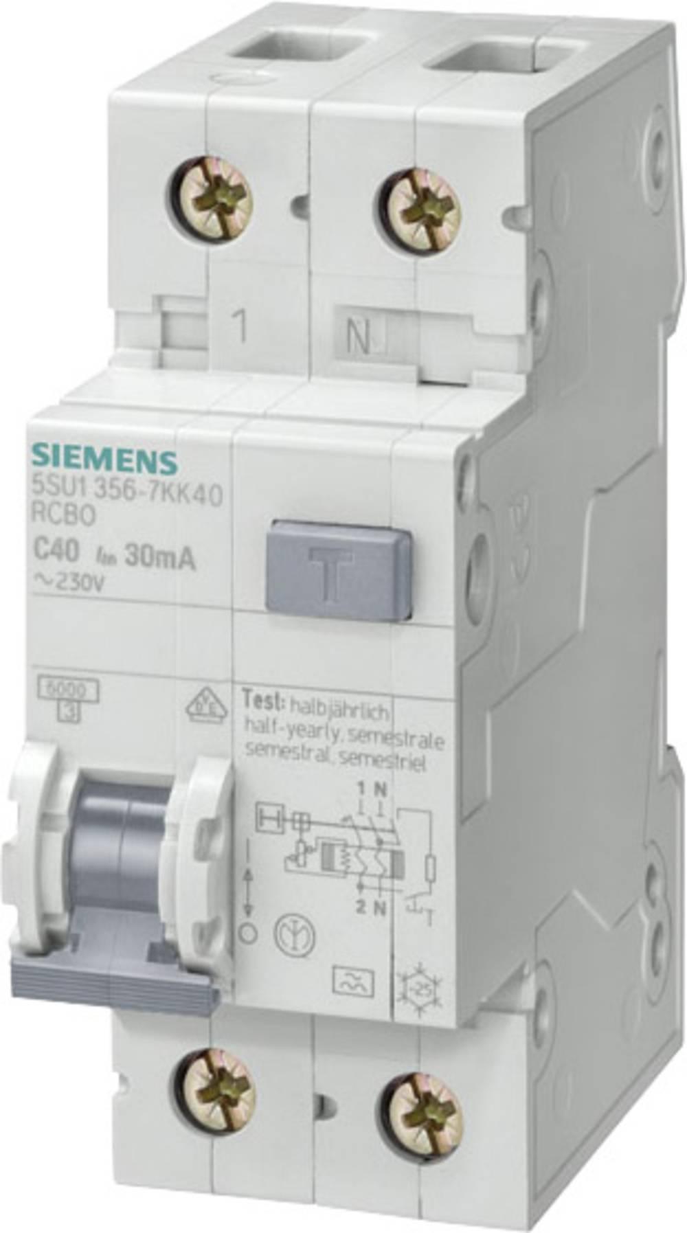 FID Zaštitni prekidač 1-polni 32 A 230 V Siemens 5SU1656-6KK32