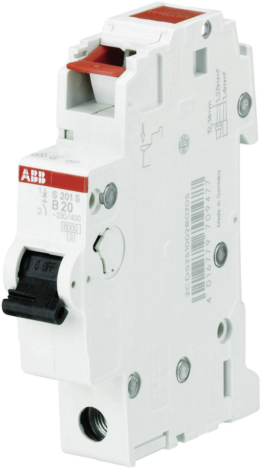Inštalacijski odklopnik 1-polni 6 A ABB 2CDS251002R0064