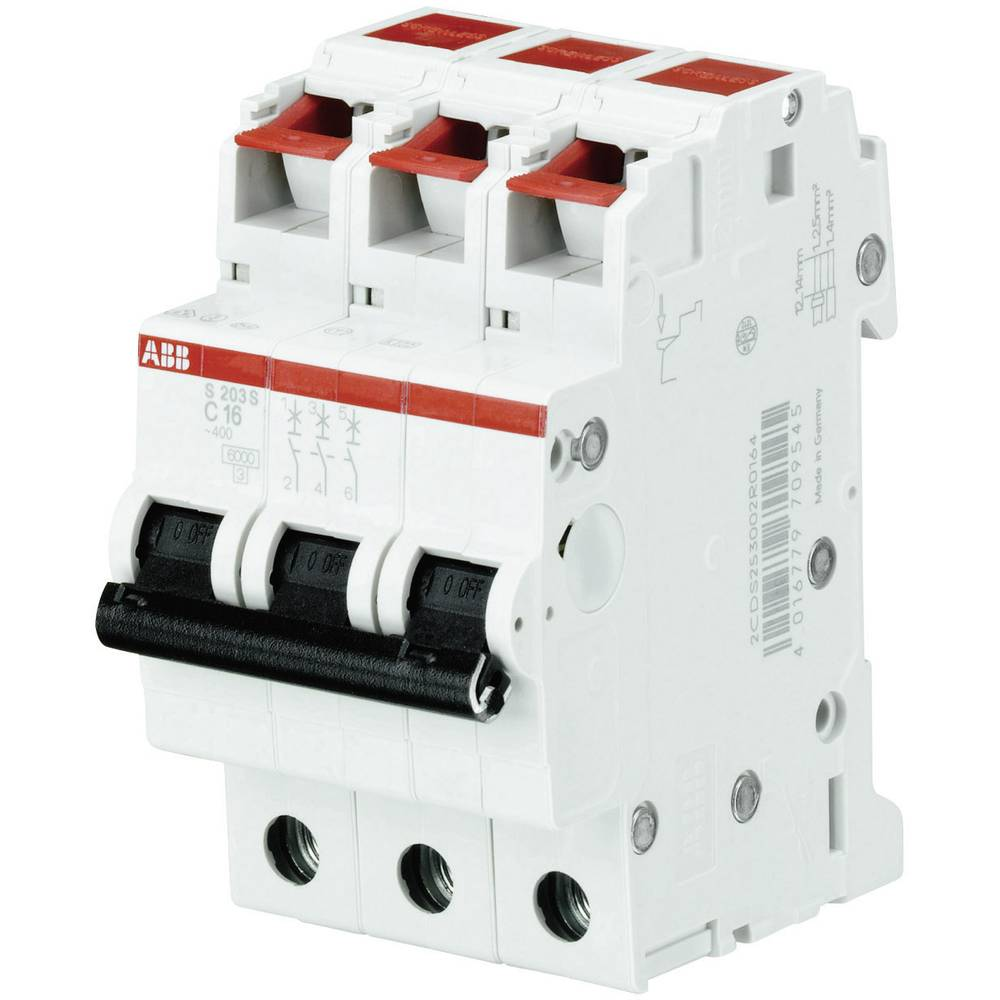 Instalacijski prekidač 3-polni 6 A ABB 2CDS253002R0065