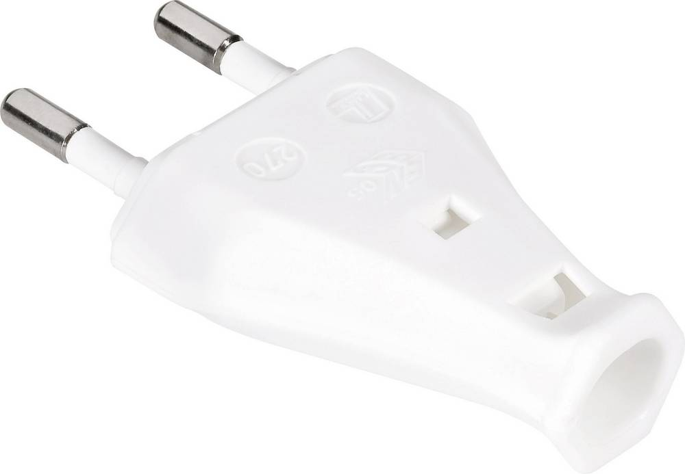 Euro-stik Plast 230 V Hvid IP20 613382