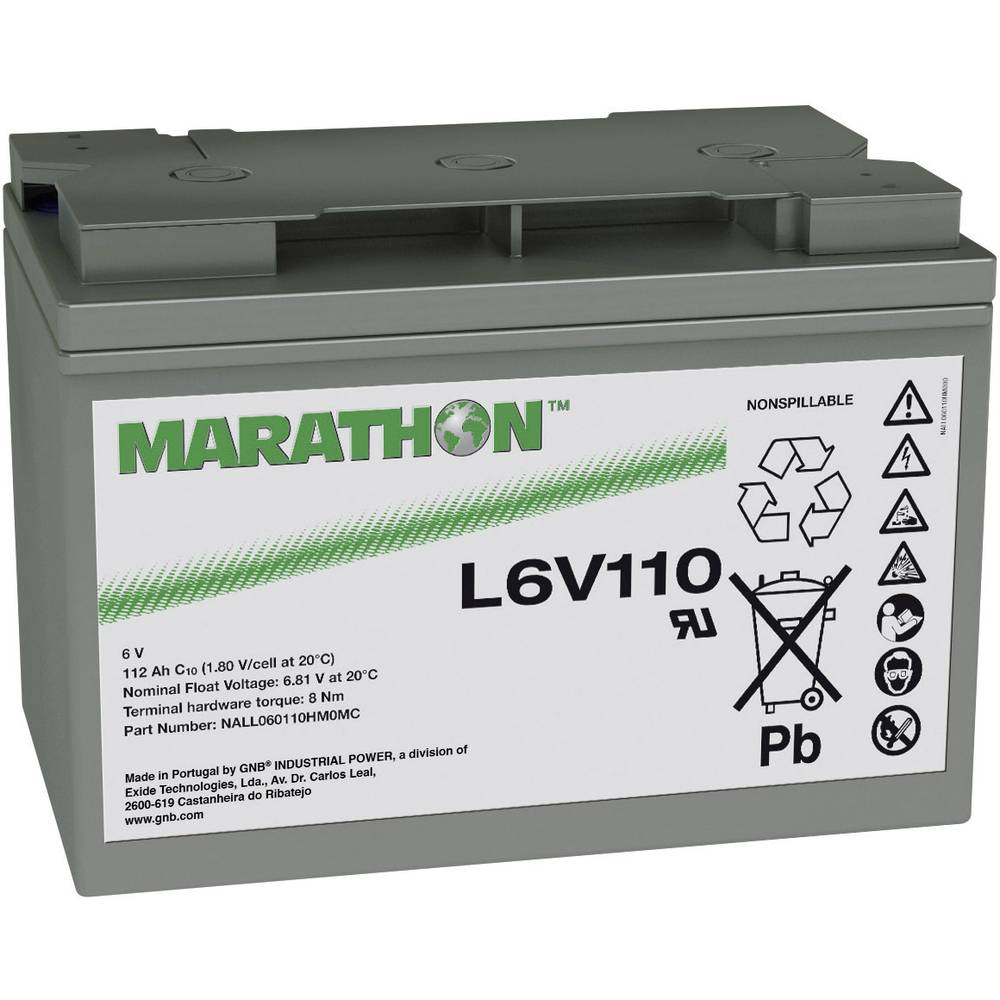 VRLA 6 V 112 Ah GNB Marathon L6V110 NALL060110HM0M
