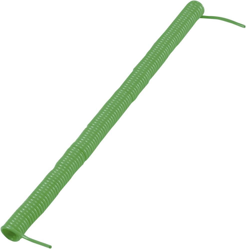 Spiralni kabel 280 mm / 3200 mm 1 x 0.12 mm zelene barve 622768 1 kos
